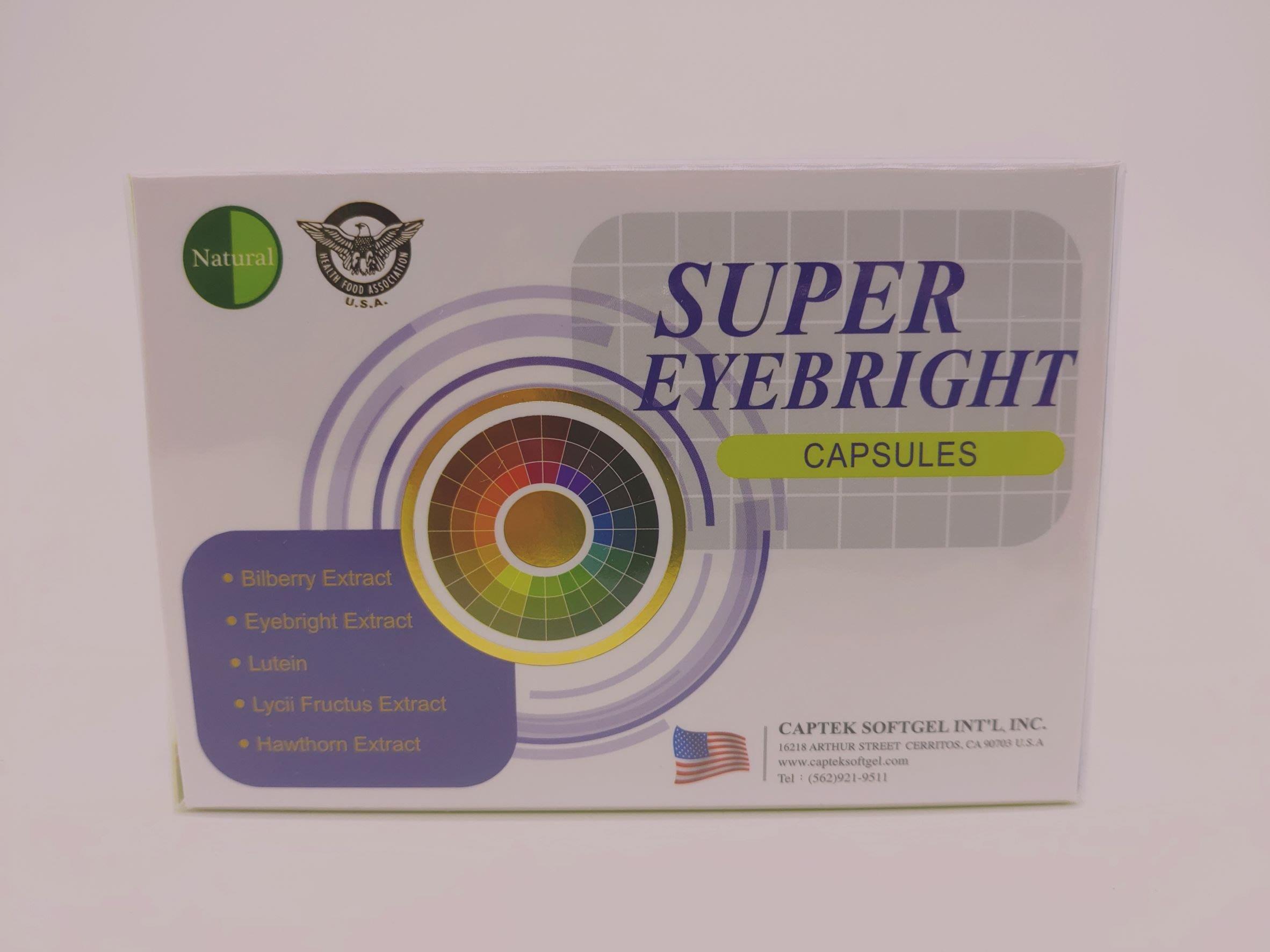 美國Natural D液態葉黃素 SUPER EYEBRIGHT CAPSULES天天亮軟膠囊 30粒/盒