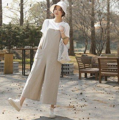 bibi 韓國代購 正韓【 BH5043 】  好看簡約寬管褲吊帶褲(2色)