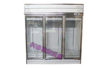 《利通餐飲設備》RS-S2010 3門-玻璃冰箱.冷凍.瑞興.220v /三門冷藏冰箱 冷藏展示櫃.西點櫥