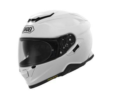 瀧澤部品 日本 SHOEI GT-AIR II 2 全罩安全帽 亮白 素色 加長內墨片 通風透氣 插扣 通勤 機車重機