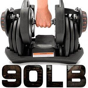 快速調整90磅智慧啞鈴17種可調式啞鈴90LB重力設備40KG啞鈴槓鈴40公斤舉重量訓練機器C194-1090【推薦+】