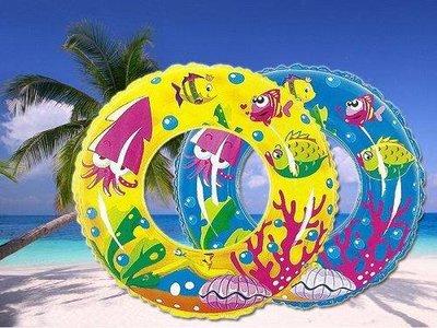 【Treewalker露遊】 海洋世界彩繪泳圈 直徑50cm 最新 炫彩 游泳 漂浮打水
