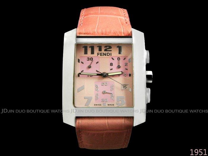 金鐸精品~1951 FENDI 芬迪7500G Orologi Square 石英計時女用腕錶