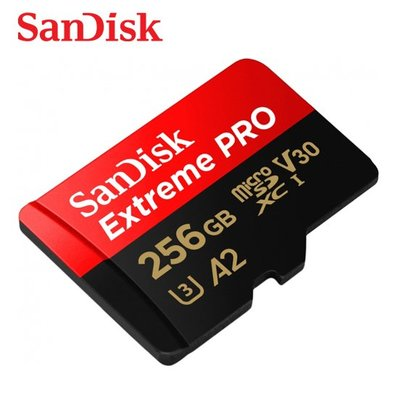 SANDISK Extreme PRO 256G A2 microSDXC U3 記憶卡 (SD-SQXCZ-256G)