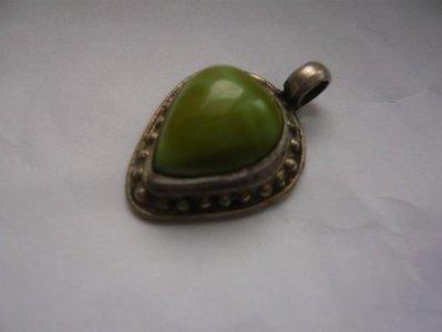 綠松石心型老銀飾 寶石專賣店 原價14600