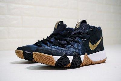 "Nike Kyrie 2 ""潑墨黑藍金鉤 ""經典 膠底 休閒運動籃球鞋 943807-403 男"