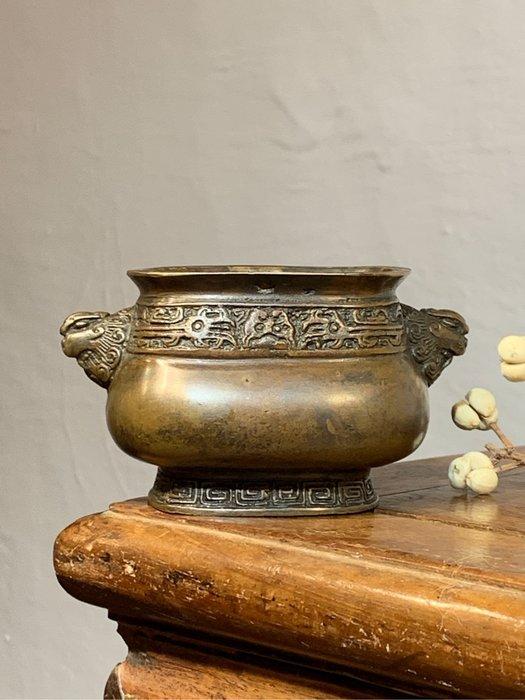 【緣古】老件 銅 大明宣德款 天雞耳爐