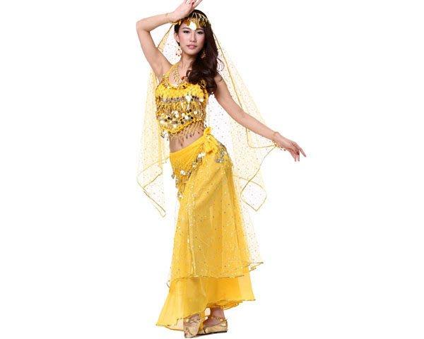 5Cgo【鴿樓】會員有優惠 35865160960 肚皮舞套裝表演出服裝高檔新款印度舞練習練功服套裝舞蹈服