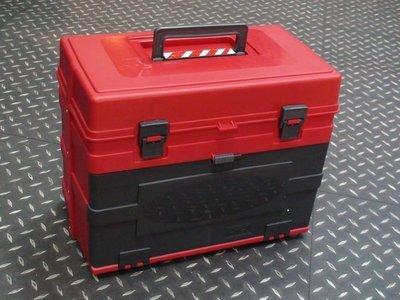 【杰丹田四驅車 台中店】手提式 三層工具箱 多功能零件收納 軌道車 紅色 4WD-T04-RD