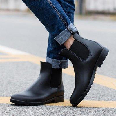 YEAHSHOP 時尚防滑雨鞋男大人防水鞋套鞋低幫馬丁雨靴男大碼短筒水靴187387Y185
