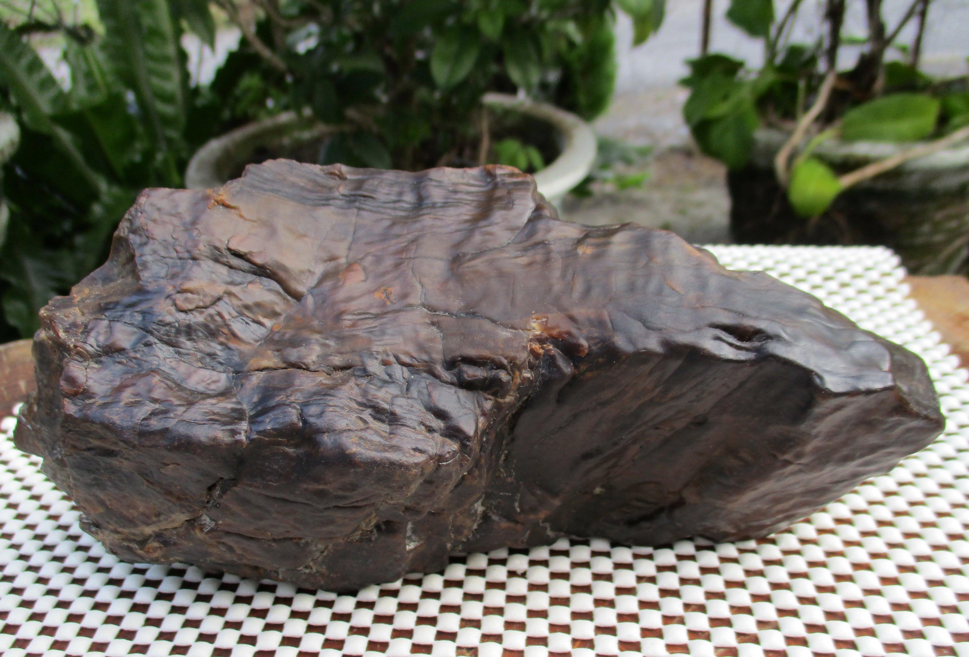 [集雅舍][30年收藏天然台灣年糕玉] 年糕石   1477公克
