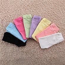[C.M.平價精品館]100~150/各色糖果色雙側邊口袋百搭修身彈力小腳褲 大童/小童