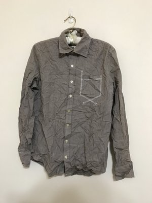 fifty percent 條紋 設計 日系風格 長袖 襯衫 20171206-2