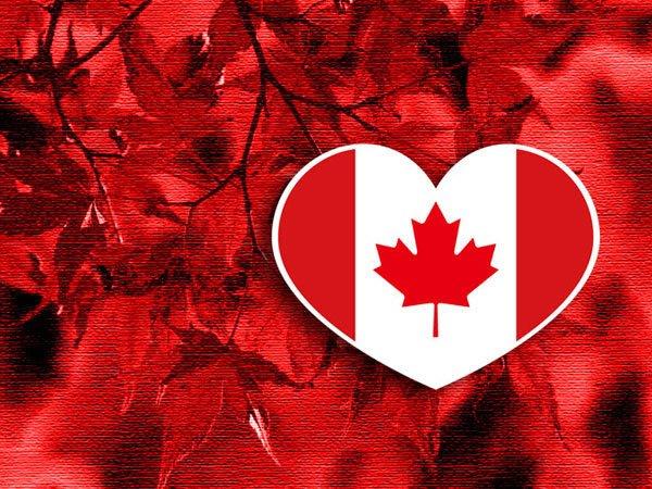 【國旗貼紙專賣店】加拿大愛心形旅行箱貼紙/抗UV防水/多國款可收集和客製
