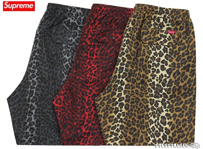 【超搶手】全新正品2015 秒殺款 Supreme Leopard Water Short 豹紋 短褲 S M L