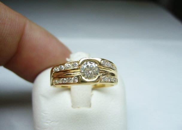 [吉宏精品交流中心]34分 南非天然鑽石 黃K金 造型 戒指