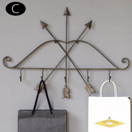 美式複古工業風鐵藝掛鉤衣帽玄關掛鉤衣鉤鐵藝掛鉤家居裝飾品牆飾