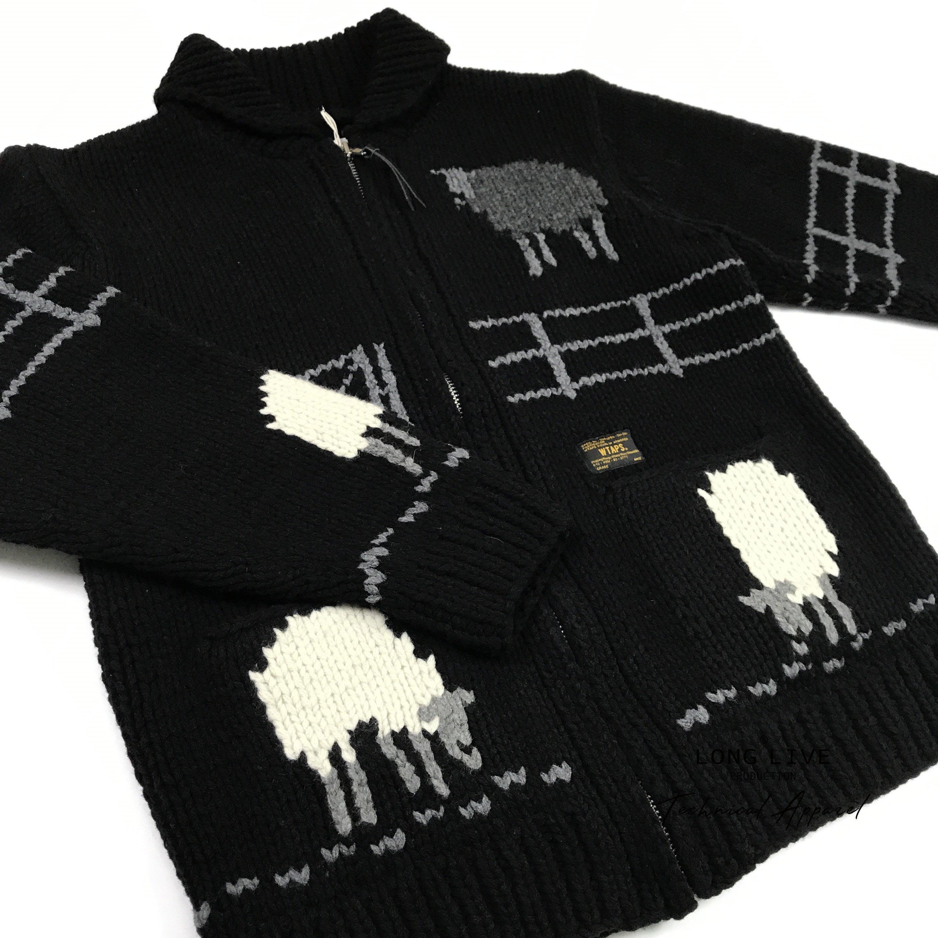 7c891f6d1b9  小囧妹香港正品代購  WTAPS COWICHAN SWEATER WOOL 小羊毛衣針織衫開衫17AW