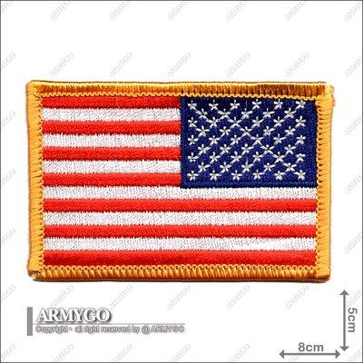【ARMYGO】美國國旗 (彩色黃邊朝右版)