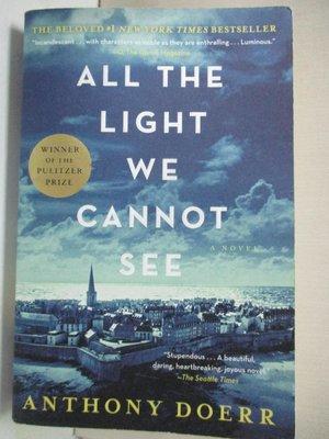 【書寶二手書T1/原文小說_IT7】All the Light We Cannot See_Doerr, Anthony