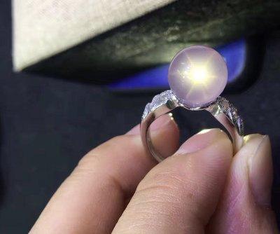 【一朵時光✿優品彙】-天然莫三比克粉晶球戒指💍全淨體925銀活圍約12mm