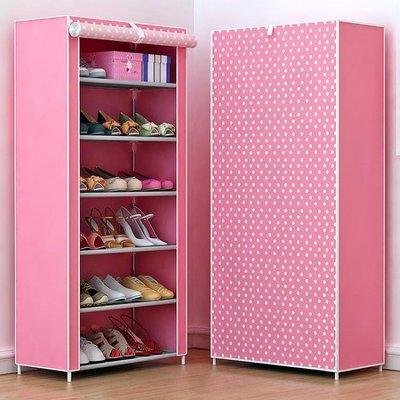 簡易鞋架家用家里人組裝多層寢室宿舍布藝收納鞋架防塵鞋柜經濟型DI