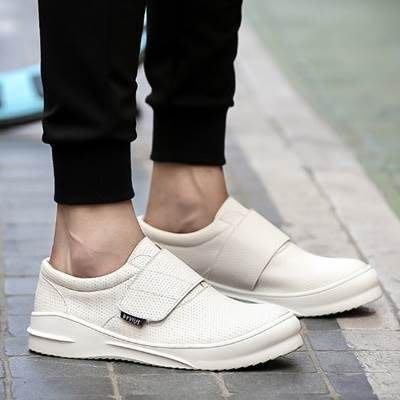 板鞋 黏扣休閒鞋-休閒時尚厚底增高男鞋子3色73ix72[獨家進口][米蘭精品]