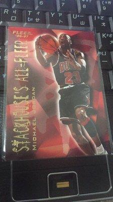 1996-97 MICHAEL JORDAN FLEER STACKHOUSE'S  喬丹 大帝 公牛