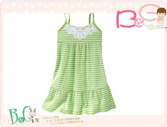 【B& G童裝】正品美國進口GAP白色蕾絲綠色背心裙18-24mos