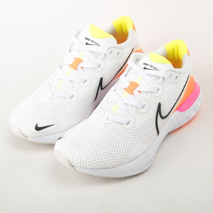 NIKE  Renew Run 女 慢跑鞋-白/螢光粉/橘 CK6357-100  現貨