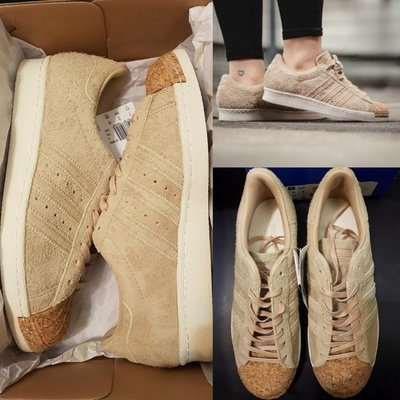 Adidas originals superstar 80s cork BY2962 軟木塞麂皮拼接 金標 男女情侶鞋