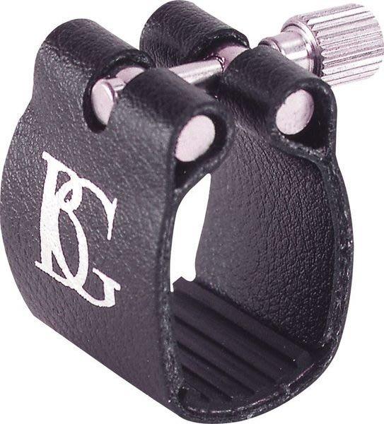 【六絃樂器】全新法國 BG L6 豎笛吹嘴束圈組 / 皮質束圈 橡膠壓板