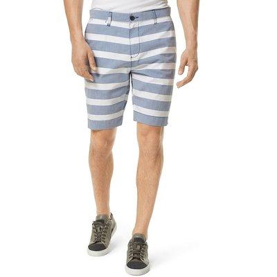 【Q比購】新款Tommy Hilfiger男裝定制款短褲藍色條紋NWT 全新