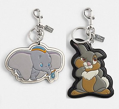 全新正品在台-Coach迪士尼小飛象 桑普兔鑰匙圈吊飾聯名款