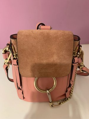 chloe faye 後背包mini粉色