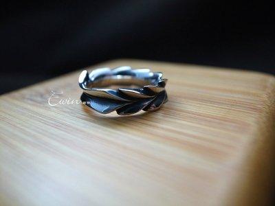 品牌作品【枝葉之輪】 925純銀戒指(限量款/男女皆可/尾戒/情侶對戒)【Ewin 創物】