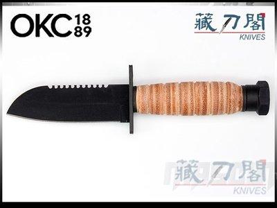 《藏刀閣》ONTARIO-(6155)OKC Journeyman-羊蹄刃旅人直刀