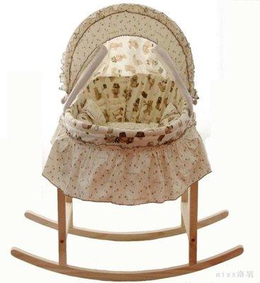 嬰兒搖籃床新生兒搖籃搖床嬰兒籃便攜手提籃子睡籃寶寶草編嬰兒床 qf3320【miss洛羽】