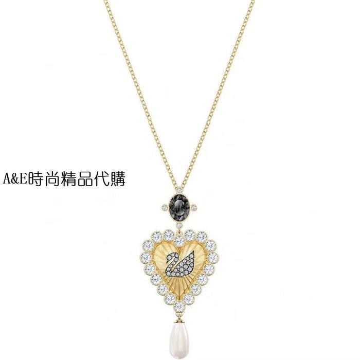 A&E精品代購 SWAROVSKI 施華洛世奇水晶  復古天鵝標誌 鍍金項鍊  歐美代購
