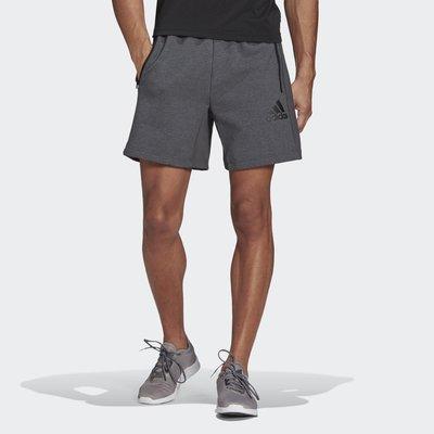 【豬豬老闆】ADIDAS AEROREADY 灰黑 短褲 簡約風 休閒 運動 訓練 男款 GM2089