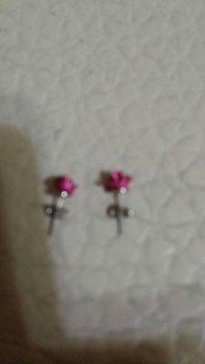 玫瑰造型耳環