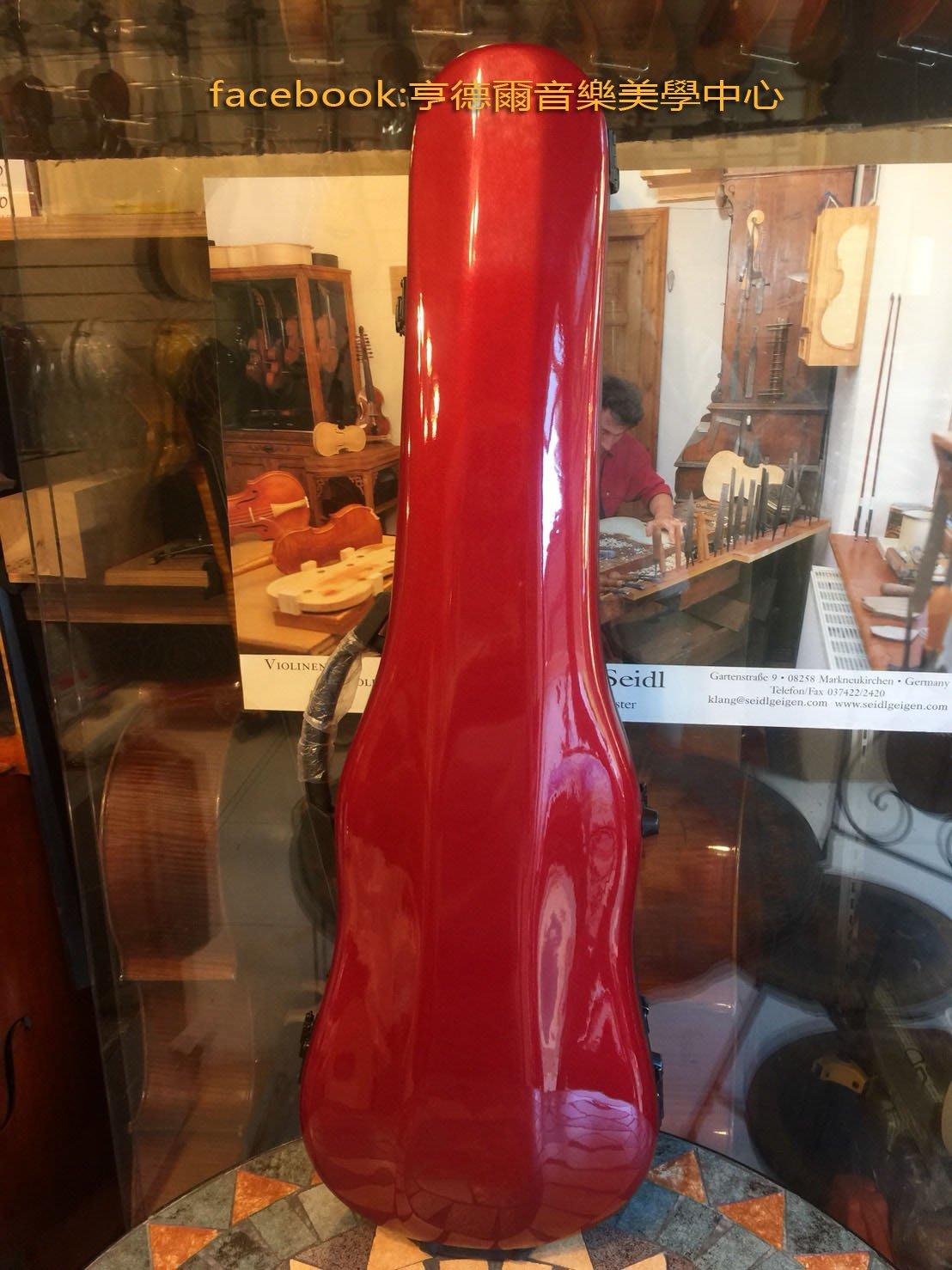 {亨德爾音樂美學-台灣安畝提琴工作室}台灣amunu小提琴盒(Diamond)紅