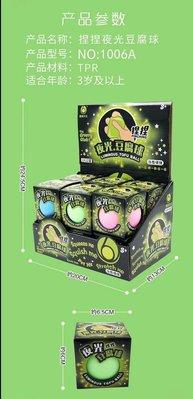 小猴子玩具鋪~全新減壓球~捏捏樂發洩玩具~5.8CM減壓夜光豆腐球.一套12個不挑色特價:550元/套