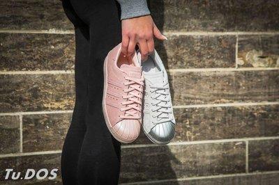 Tu.DOS ADIDAS SUPERSTAR 80S 經典豪華版 金屬貝殼 女神鞋 粉色 銀色 台北市