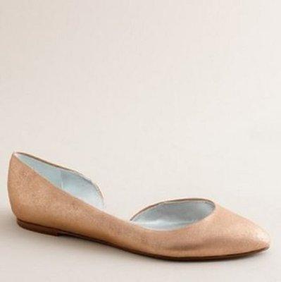 【美衣大鋪】 jcrew ☆ J.Crew 正品☆samantha metallic flats 美鞋