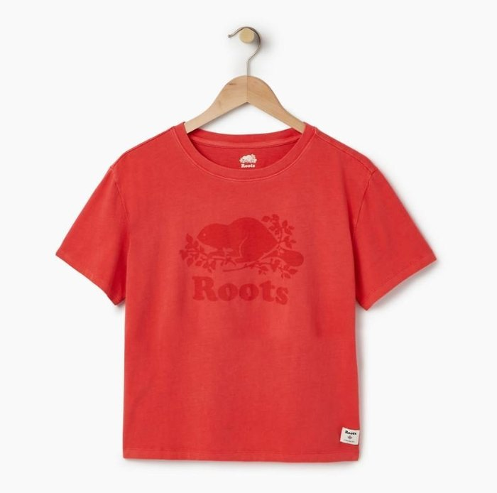 ~☆.•°莎莎~*~☆~~加拿大ROOTS Womens Sunkissed T-shirt 棉T