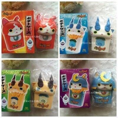 日本麥當勞限定妖怪手錶薯條/零食盒/4隻1組