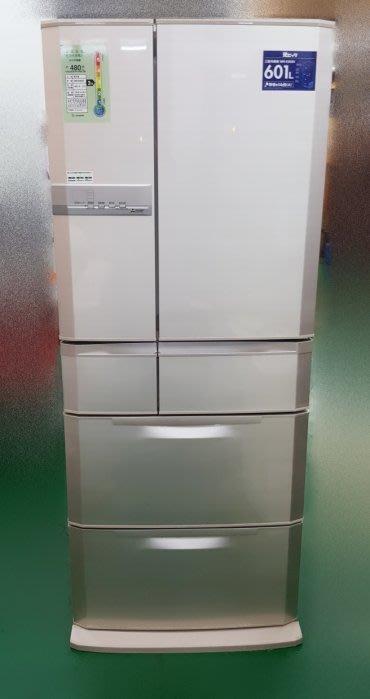 【宏品二手家具館】 台中二手家電 家具Q53107*三菱6門601L冰箱* 2手液晶電視機 洗衣機 冷氣拍賣