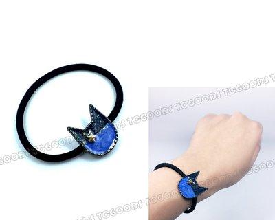 【台中好物】日本同步最新款 藍色星空小貓 喵星人 夢幻造型 髮束 髮圈 髮繩