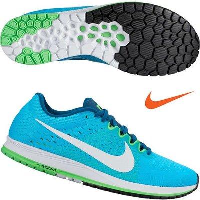 NIKE ZOOM STREAK 6 藍綠白 編織 慢跑鞋 831413-400 男鞋 尺寸詢問